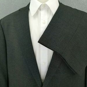 Hart Schaffner Marx Dark Gray Striped 2 Btn SUIT